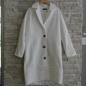 PRETTY LITTLE THING Oversized Cream Coat